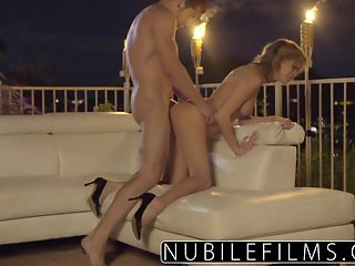 NubileFilms - Outdoor romance leads to hot fuck