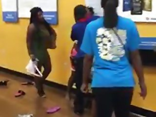 Your mom fighting with her big titties showing