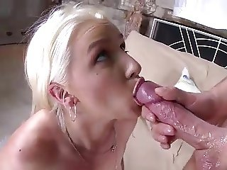 Beauty girl Stevie Shae takes cum in her mouth