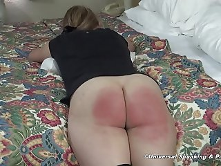 A Painful Spanking and Strapping for a Young Lady