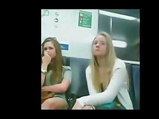 Cock for laughing girls in train PublicFlashing.me