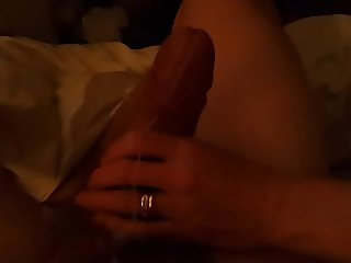 using unaware wife's hand to wank me off