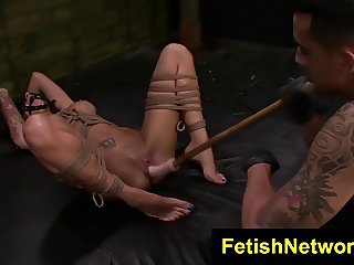 FetishNetwork Alby Rydes rough sex slave