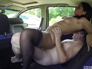 Sex With Real Whore In The Car