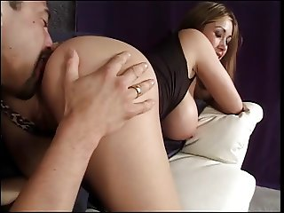 Smoking hot big tits chick sucks & fucks a big hard cock