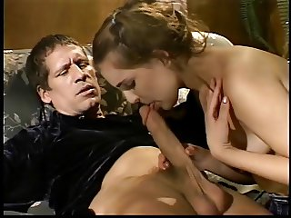 Girl sucks dick and cum splashed