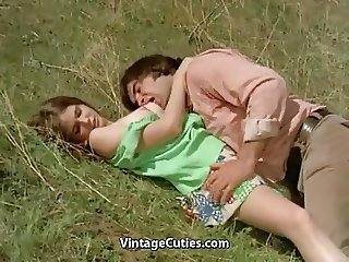 Man Tries to Seduce teen in Meadow (1970s Vintage)