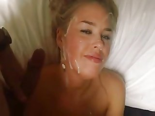 Beautiful russian Escort gets a lot of Cum!