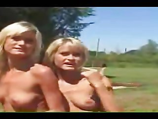 A1NYC Blond Twins Hot Outdoor Fucking
