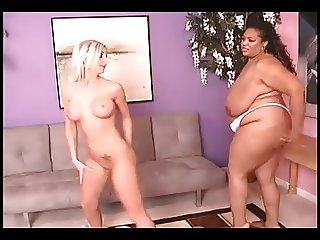 Interracial catfight big ebony vs skinny ivory