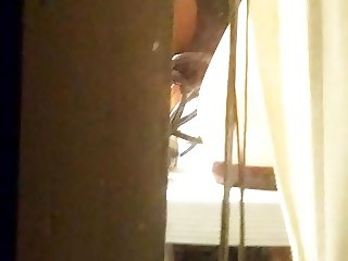spying on hot girl through window after shower (part 2)