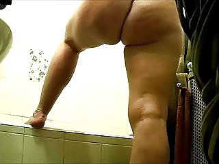 Nude wife in bathroom