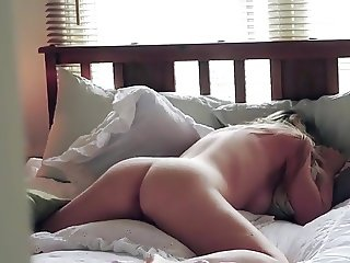 My step sister trying to masturbate quitly