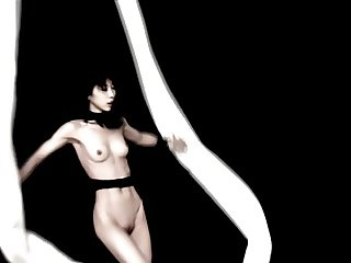 sexy japan lady artistic performance - nude sport art