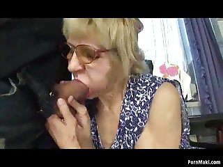 Granny fucks with her son for money