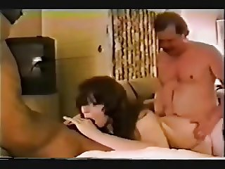Many cocks for vintage hotwife in hotel room