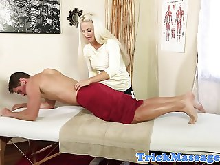 Busty masseuse pounded on spycam by client