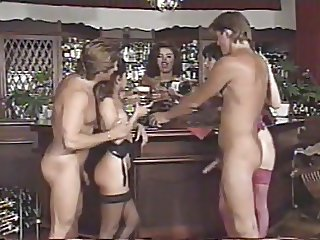 Group sex scene from Bar Job (1995) with Angelica Bella