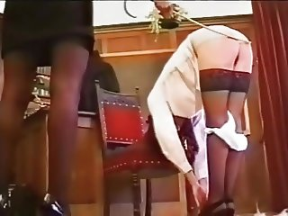 Naughty girl caned
