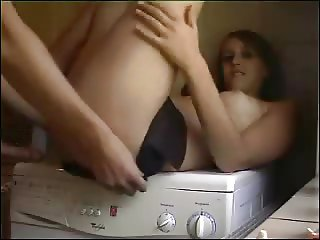 Couple fuck in laundry room
