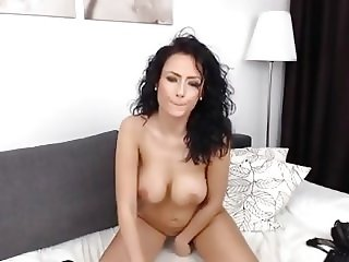 Sexxy Brunette Ride Dildo