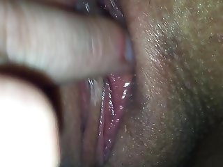 Hispanic Married Wife's Wet Pussy while she sucks my cock.