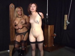 Asian gets a punishment and enjoys it