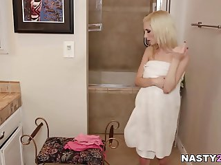 daddy sniffing her Step daughter's panties