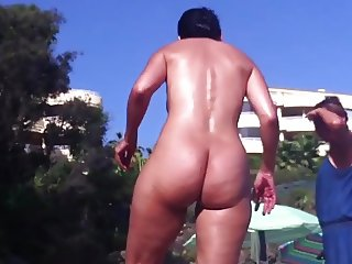 nude beach sexy ass