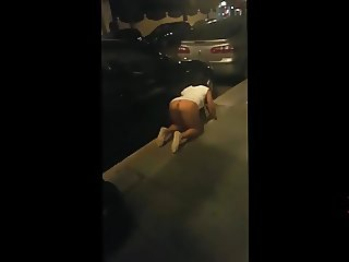 Looking For Her RIng Underneath Some Car