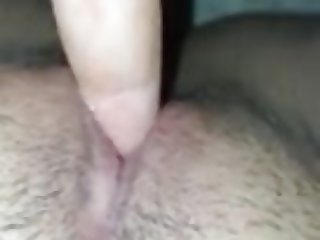 Playing with pussy milk