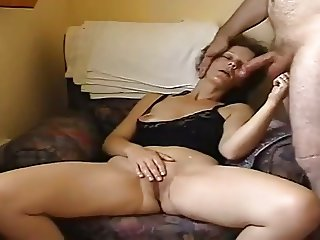 Wife masturbates and get cumshot