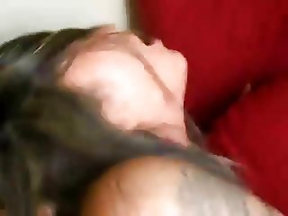 Tattooed Latina can't handle his big cock