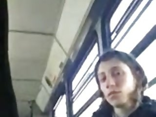 Bulge Dickflash for Woman on Bus Exhibitionist