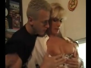 Mommy and Two Boys Have Hot Threesome German Classic