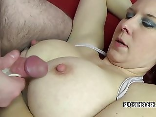 Redhead MILF Lia Shayde takes all the jizz in her mouth