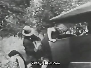Mustached Boy Fucks 2 Young Petite Girls (1910s Vintage)
