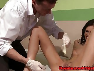 Petite teen punished by doctor