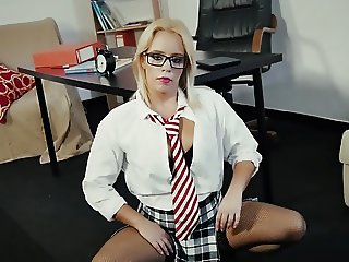 Horny Teacher Gives A Fucking Lesson