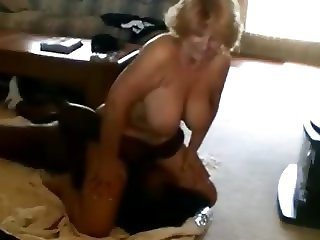 Granny with saggy tits interracial facesitting