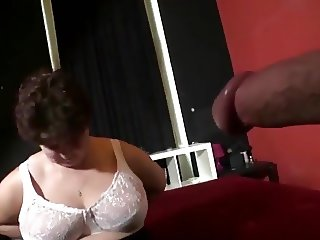 Chubby Grandma Hana In White Stockings Fucks Her Lover