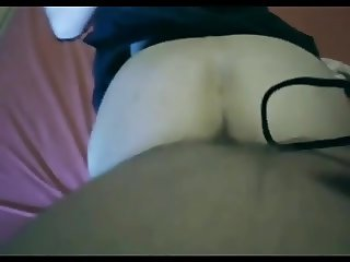 Filming while fucking her hairy bush from behind