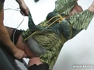 Tits in punishment and squirting orgasm