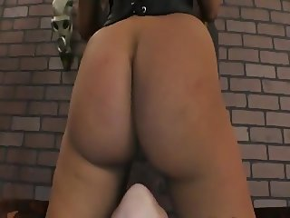 Asian dom facesits little girl