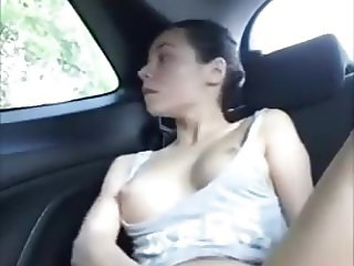Mexican Amateur Masturbates and Squirts in her Parked Car
