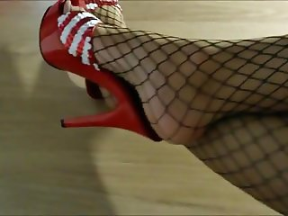 High Heels Fishnet Pantyhose