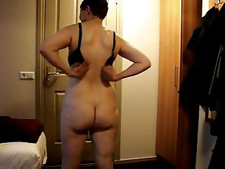 Mature wife strip