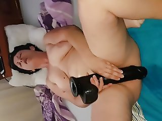 Big dildo orgasm
