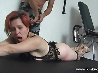 Spanking and clit whipping with nettle