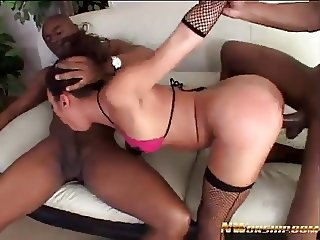 hot anal threesome with 2 big black cocks interracial porn